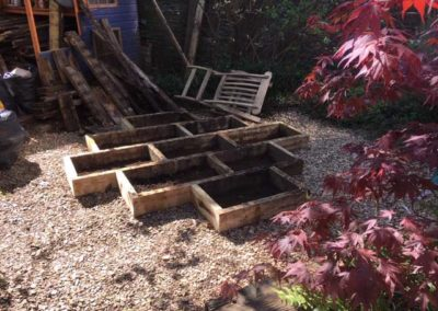 Finished Raised Beds for Wildflower garden