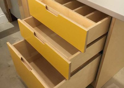 Drawer Detail with recessed handle