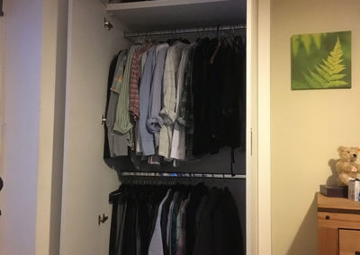 Finished Fitted Wardrobe with rails & shelf