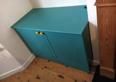 TV Alcove Cabinet Painted