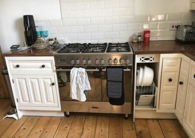 Kitchen Floorboards with large gaps