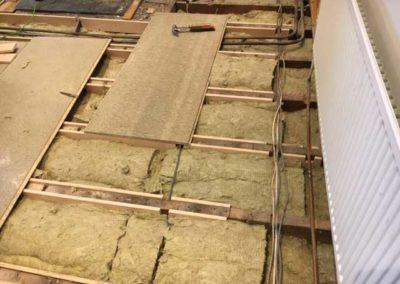 Caberfloor panels installed
