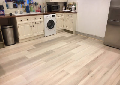 Finished Floor & Cabinets